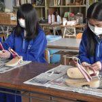 桐下駄作りに挑戦 結城二高で講習会 地域伝統産業学ぶ