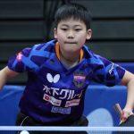 13歳・松島輝空、22歳差対決制し3回戦へ<全日本卓球男子単2回戦>