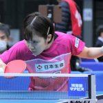 卓球全日本女子シングルスベスト32決定 平野美宇、10ヶ月ぶりの試合も勝利
