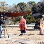 万葉集、朗読劇の動画 筑西・廣澤美術館庭園で撮影