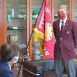 常総、主将ら決意「茨城県民に勇気を」 土浦市役所や県庁訪問