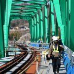 水郡線、27日全線開通 新鉄橋渡り喜び 大子、住民対象に見学会