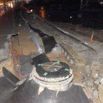 大雨で歩道60メートル近く崩落 付近巡回の東海村職員が気づく