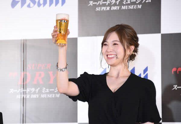 ビール党・白石麻衣がスーパードライミュージアムのアンバサダー就任「ビールに合うおつまみを作って飲んでいる」