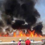 国内最大の遊水地の火災で消防12台以上が出動 目撃者に現場の状況を聞いた