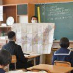 赤水の地図、教科書に 高萩・松岡中、授業で解説 全国的な顕彰広がり期待