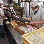 かしわ餅、製造ピーク 水戸の老舗和菓子店 子どもたちの健康願い込め