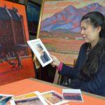 亡き父の思い胸に親子絵画展 水戸の佐藤さん 9日から東海のギャラリーで