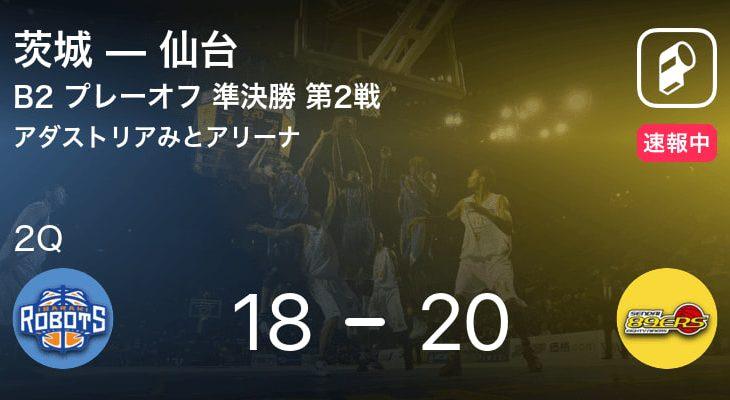 【速報中】1Q終了し仙台が茨城に2点リード