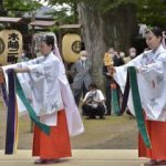 常陸太田 コロナ収束願い鶴子舞 若宮八幡宮で例大祭