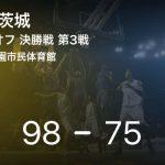 【B2プレーオフ】群馬が茨城に大きく点差をつけて勝利