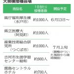 ワクチン大規模会場 茨城県、7月4カ所追加 県庁会場 五輪警備職員ら優先