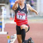 陸上日本選手権 男子三段跳び 山本(諫早農高出身)9位 けがで地力出せず