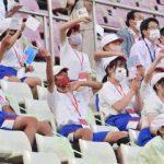 東京五輪 カシマ 歓声なきエール 旗、拍手 児童生徒のみ