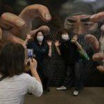 目の錯覚を楽しもう 茨城・鹿嶋でトリックアート展