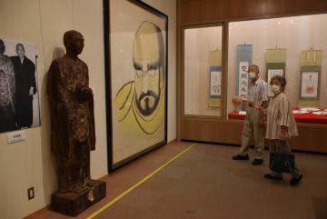 中川祐俊さん遺作展 茨城・坂東郷土館で 書画や彫刻など100点