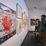 日本画やCG、意欲作 23日までグループ展 茨城大卒美術教員ら ひたちなか