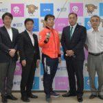 東京五輪フェンシング代表・水戸出身永野選手「パリでメダルを」 男子フルーレ団体4位 市長に報告