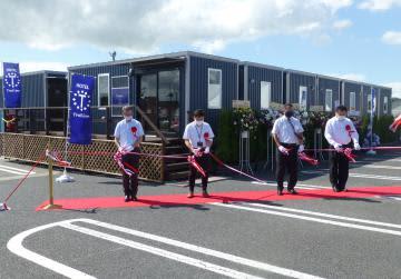 トレーラーホテル 9月1日オープン 茨城・稲敷で完成式典