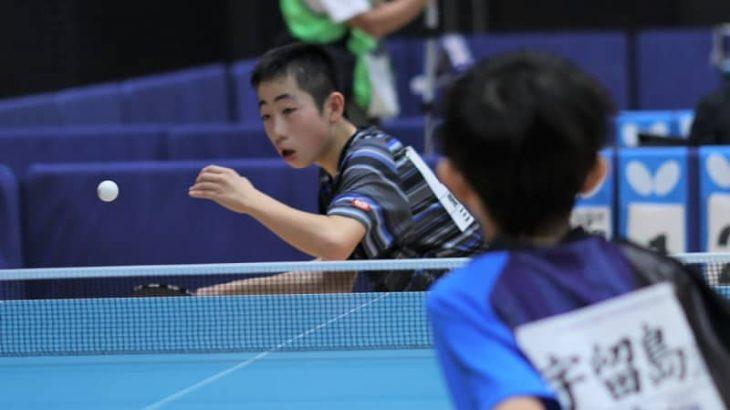 強豪校から公立中まで様々な選手が全国の舞台で躍動<卓球・全中男子シングルス1回戦結果>