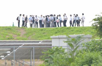 茨城・常総水害訴訟 裁判官が現場視察 水戸地裁