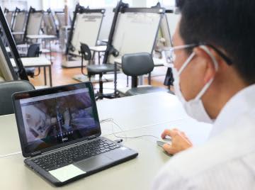VRで昔の建物学ぶ 水戸工高のオンライン授業