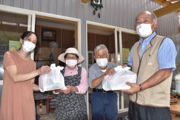 高齢者に生活品贈る 茨城・常陸太田の住民組織 敬老会の代替事業