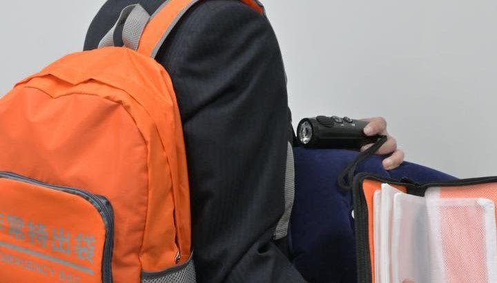 茨城・日立市 全世帯に非常持ち出し袋、配布 防災意識高める
