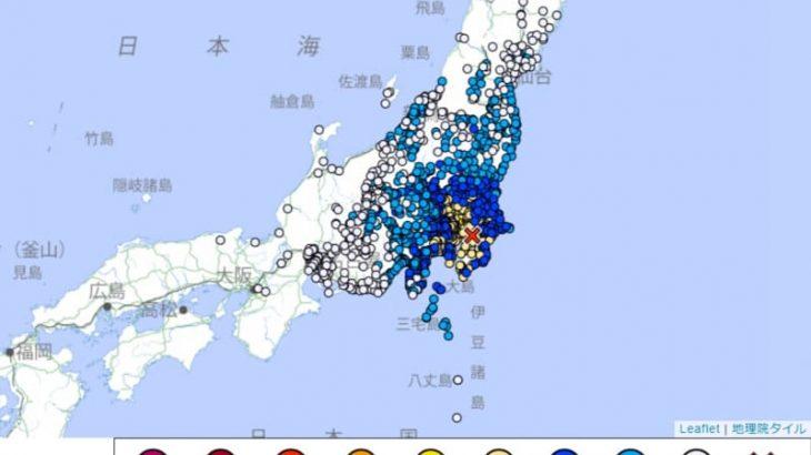 東京都と埼玉県で震度5強の地震 福井県福井市、敦賀市、高浜町でも揺れ 10月7日