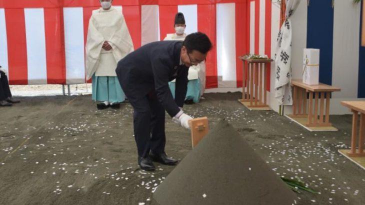 茨城・下妻市新庁舎起工式 工事の安全を祈願