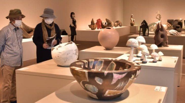 「笠間」誇る公募展 県陶芸美術館開館20周年記念 多彩、食器にも光 茨城